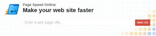 Главная страница сайта Page Speed Online