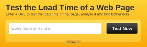Главная страница сайта Pingdom Tools