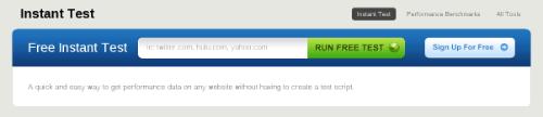 Главная страница сайта Free Website Performance Test (BrowserMob)