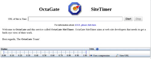 Главная страница сайта OctaGate SiteTimer