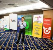 Баннер в одном из залов конференции