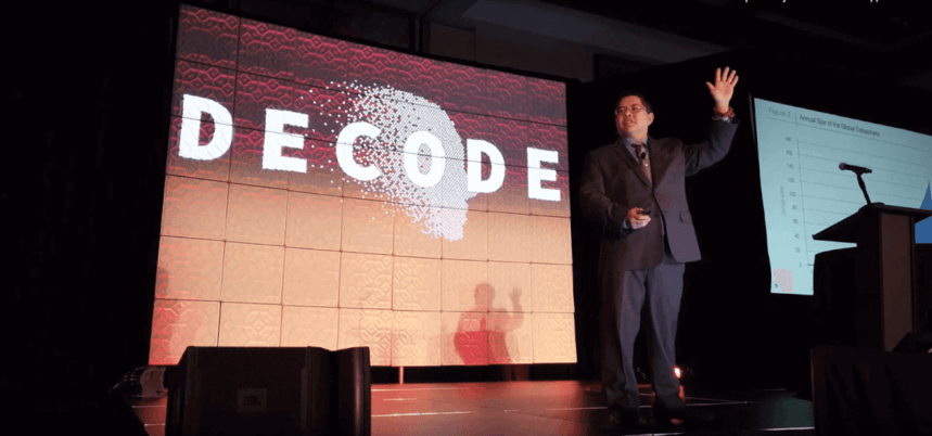 Christopher Penn on the stage of Decode