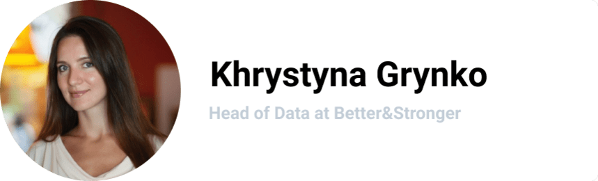 Khrystyna Grynko, Head of Data at Better&Stronger