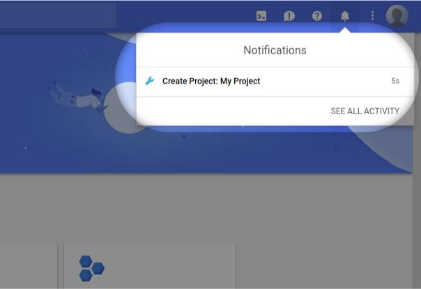Уведомление о новом проекте Google Cloud Platform